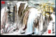 Blue China Green Jiuzhaigou Landscape PAINTING Peoples Pine Rocks Sichuan Tibet Traditional Yellow autumn chinese clear flower flowing frozen grey ice location of plants realistic red republic scene seal snow steam stone stream water waterfall winter // 344x230 // 202.5KB
