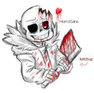 Horror!Sans HorrorTale Undertale UndertaleAU // 396x394 // 100.6KB