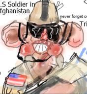 Afghanistan Caricature Soldier U.S // 408x442 // 41.0KB