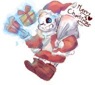 Christmas Sans Undertale // 348x311 // 94.3KB