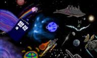 Death_Star Firefly JoeHF Nyancat Serenity Star_Wars Starwhale TIE Yows doctor_who earth galaxy moon planet space spaceship tardis // 900x540 // 566.5KB