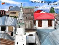 Africa Architecture Brown Islam Masjid Mosque Old Town White city clouds crowded daytime dirty iron islamic island minaret ocean port red rusty sky swahili tanzania water windows wood zanzibar // 702x538 // 84.6KB