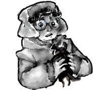 Cute Doodle Gamby dog sketch // 445x411 // 93.8KB