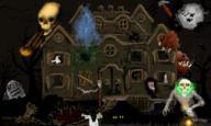Blood Cat Crocostyle DrawC JoeHF Sixxy bat collab crow dark ghost ghostbusters grave haunted haunted_house house moon nekolulu night petrikfg skeletal spooky zombie // 900x540 // 429.4KB