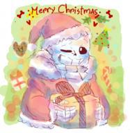 Christmas Sans Undertale // 331x339 // 124.8KB