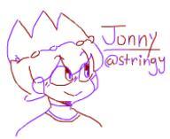 Jonny StringsOfDarkness fanart twocolorchallenge // 188x154 // 7.1KB