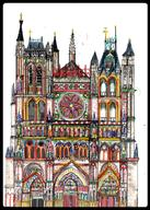 Amiens Architecture Cathedral France color gothic medieval original schmitz_katze // 272x382 // 151.5KB