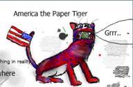 America Caricature China Dangerous Mao Paper Satire USA furry tiger // 754x496 // 53.9KB