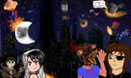 Bladerunner JoeHF city deathbysqueegee meteor moon night planet space takuser // 900x540 // 557.0KB