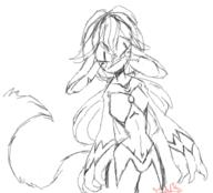 WarriorBioCactus anthro furry sketch // 411x373 // 41.2KB